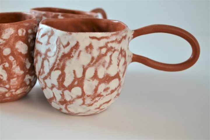 Pinched Cup White ceramic