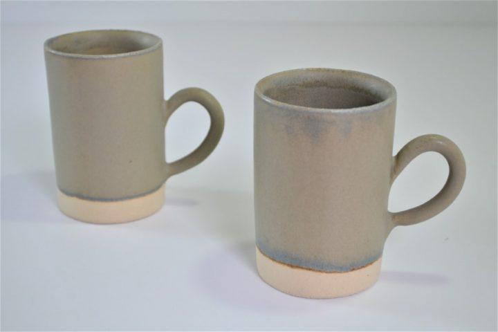 Tube Cup Blue Grey ceramic