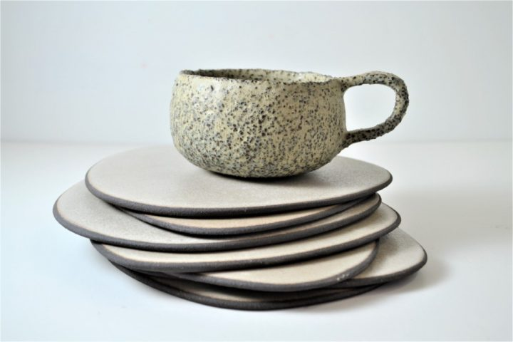 Stone Cup Blue Grey ceramic